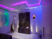 дизайн ванной комнаты с подсветкой
