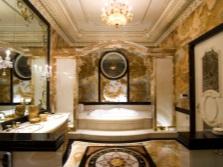 богатый дизайн ванной комнаты