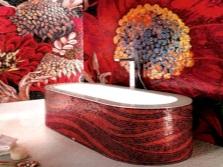 Ванна, отделанная мозаикой