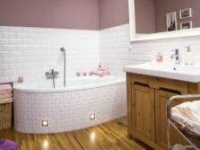 Ванна с подсветкой в дизайне ванной комнаты