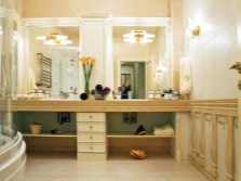 Мебель - столики в дизайне ванной комнаты