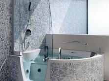 Круглая ванна комбинированная с душем