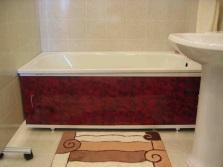 Раздвижной экран под ванну с защитной декоративной пленкой
