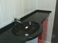 Каменная раковина со столешницей для ванной комнаты