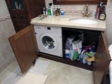 Преимущества  мебели для ванной  комнаты со  встраиваемой стиральной машиной