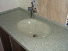 Раковина из искусственного композитного материала для ванной