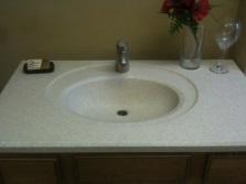 Керамогранитная искусственная раковина для ванной