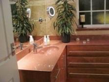 Искусственный камень в интерьере ванной