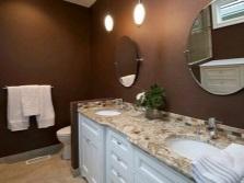 Раковины из искусственного камня в интерьере ванной комнаты