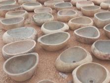 Натуральные каменные раковины из розового гранита