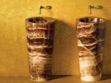 Раковины для ванной из натурального камня оникса