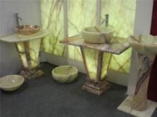 Натуральные каменные раковины