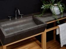 Прямоугольные раковины для ванной из натурального камня