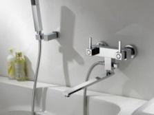 Двухвентильный смеситель для ванной - устройство