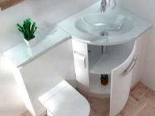 Угловые  тумбы с раковиной для ванной комнаты