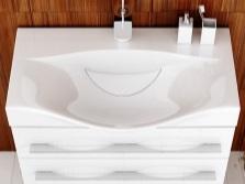 Раковина с тумбой имеющей ящики в ванную комнату