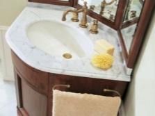 Угловые тумбы под раковину в ванную