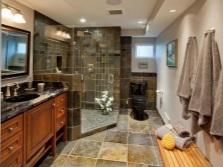 Дизайн ванной комнаты для черного унитаза