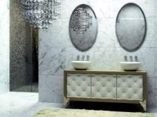 Итальянская мебель в ванную комнату и материалы для неё