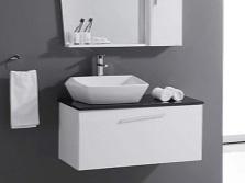 Накладная керамическая раковина в ванную