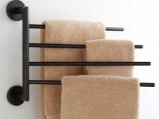 Скрытый способ установки вешалки для полотенец в ванной