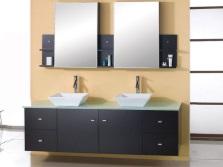 Размеры и формы зеркал с полками в ванной