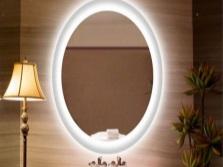 Форма зеркала с подсветкой для ванной
