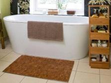 Бамбуковый детский коврик в ванную