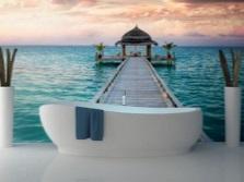 Фотообои с морской тематикой для ванной