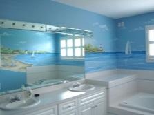 Фотообои для ванной комнаты с морской тематикой