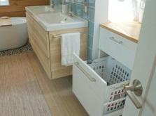 Встраиваемая корзина для белья для ванной комнаты