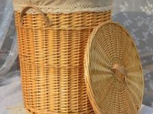 Плетеные корзины для белья для ванной