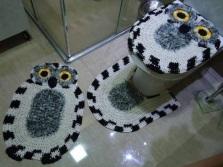 Формы ковриков связанных крючком для ванной и туалета