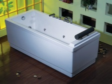 Отдельностоящая ванна с гидромассажем и аэромассажем
