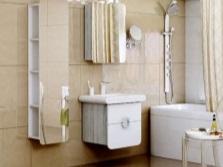Шкаф-пенал с зеркалом для ванной