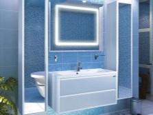 Шкаф-пенал для ванной комнаты с зеркалом