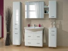 Дизайн шкафа в виде пенала для ванной комнаты