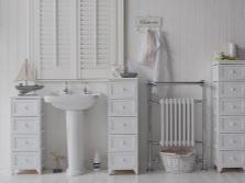 Шкаф-пенал и его дизайн для ванной