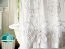 Декор шторки для ванны своими руками
