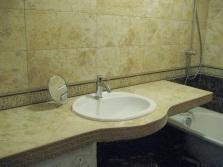 Самодельная столешница из гипсокартона в ванную комнату