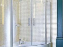 Угловая штора для ванны из закаленного стекла