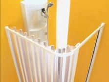 Угловая шторка-гармошка для ванны