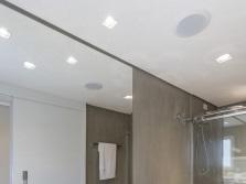 Встраиваемые светильники для ванной комнаты - их формы и размеры