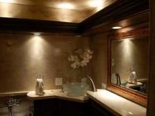 Формы и размеры встроенных светильников в ванной