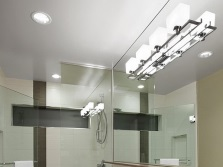 Размещение встроенных светильников в ванной