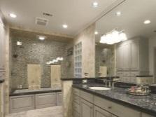 Размещение встроенных светильников в ванной комнате