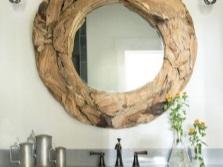 Монтаж самодельного зеркала в ванной комнате