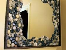 Декорирование зеркала своими руками для ванной