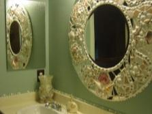 Украшение зеркала в ванной своими руками