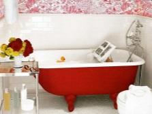 Красный цвет для ванны